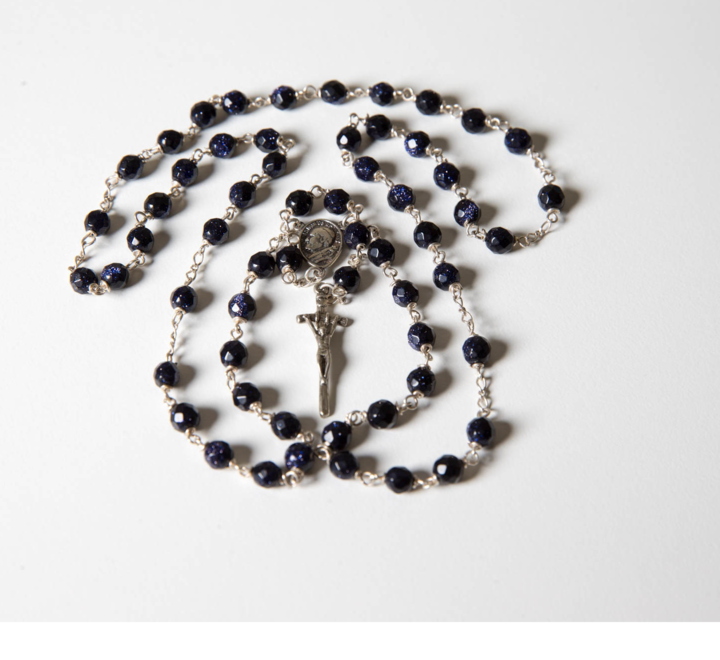 close up of rosary