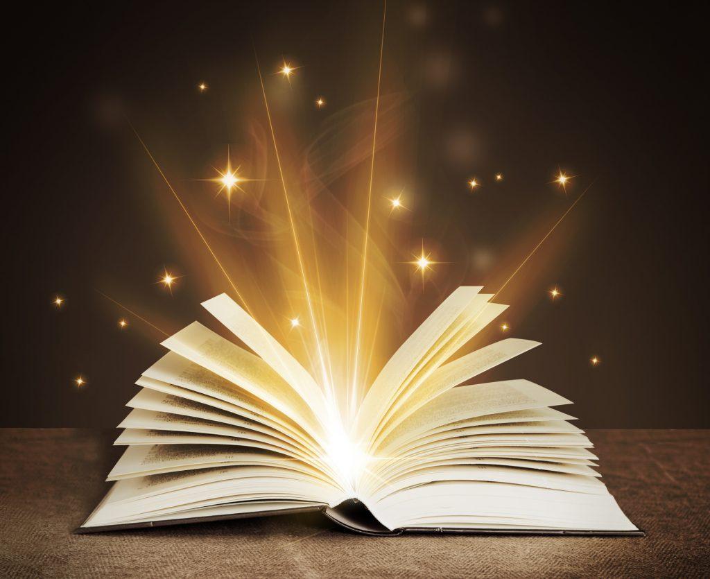 Open Book glowing